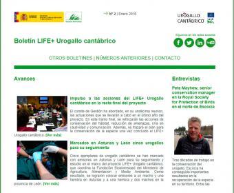 Boletín Life+ Urogallo