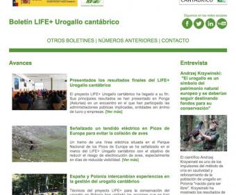 Carátula boletín final LIFE+ Urogallo cantábrico