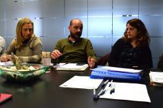 Marian Osorio (Junta de Castilla y León), Felipe González (SEO/Birdlife) y Elena Álvarez (Gobierno de Cantabria) en la reunión del Comité de Gestión celebrado en la sede de la Fundación Biodiversidad