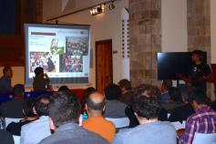 Javier Purroy (SEO/Birdlife) en el seminario informativo del proyecto LIFE+ Urogallo cantábrico