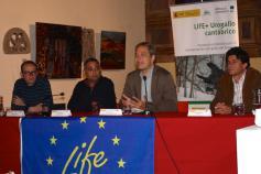 Francisco Jiménez (Fundación Patrimonio Natural CyL), Javier Espinosa (Gobierno de Cantabria), Ignacio Torres (Fundación Biodiversidad) y Borja Palacios (Parque Nacional Picos de Europa)