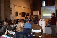 María Gómez (Fundación Oso Pardo) en el seminario informativo del proyecto LIFE+ Urogallo cantábrico
