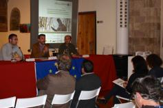Daniel Pinto (Fundación Patrimonio Natural de Castilla y León), Víctor Gutiérrez (Fundación Biodiversidad) y Miguel Vázquez (centro de cría en Asturias)