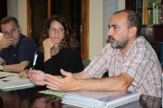 Felipe González (SEO) durante la reunión del Comité de Gestión en Cangas de Onís