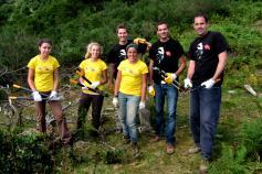 Voluntarios en el Parque Natural de Redes. @SEO/BirdLife