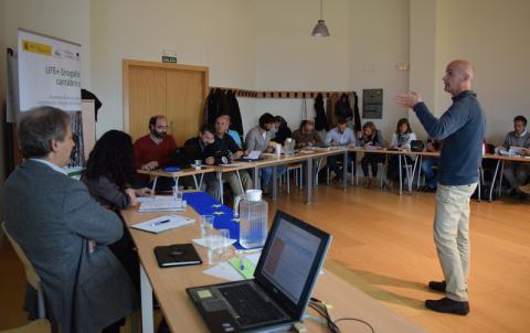 reunión del comité científico del LIFE+ Urogallo cantábrico en el centro para la defensa contra el fuego en Léon