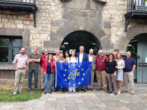Miembros del Comité de Gestión de LIFE+ Urogallo cantábrico en Cangas de Onís (Asturias)