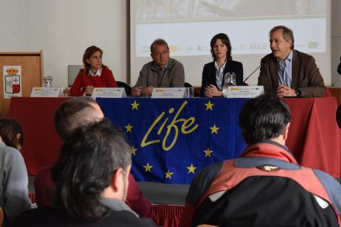 Acto de presentación de resultados del proyecto LIFE+ Urogallo cantábrico celebrado en Ponga (Asturias)